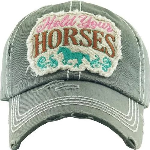 "AWST Ball Cap - ""Hold Your Horses"""