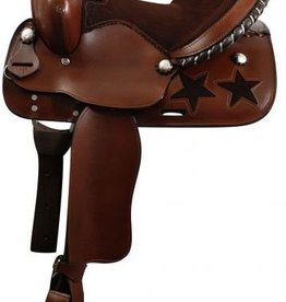 "Showman 13"" Youth saddle with Suede leather Seat, SQHB"