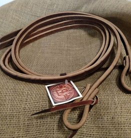 "Circle L Circle L Split Leather Tie End Reins, U.S.A. Made - 1/2""x8'"