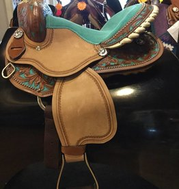 "Lamprey 13"" Youth Barrel Saddle - Pony Bars"