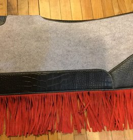 Circle L Circle L Felt Western Pad w/ Red Fringe - Reg $149.95 NOW $30 OFF!