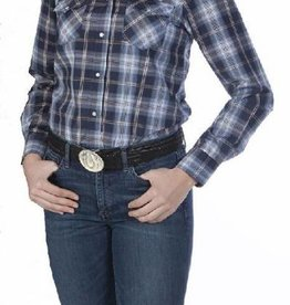 WEX Women's WEX Western Blue & Brown Plaid Shirt. Reg $39.95 now 25% OFF!