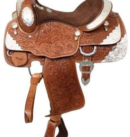 "Double T Double T Show Saddle, Medium Oil - 16"" SQHB"