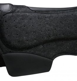 "Showman Showman™ Airflow Felt Barrel Saddle Pad with Shock Foam Bars - 28"" x 31"""