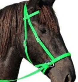 Dr. Cook Dr. Cook Bitless Bridle Nylon, Lime Green - Medium