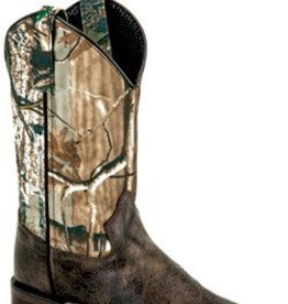 Old West Children's Old West Youth Square Toe Camo Boot