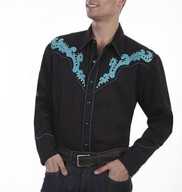 Scully Men's Scully Embroidered Scroll Shirt w/ Studs