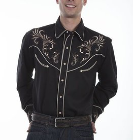 Scully Men's Scully Embroidered Western Shirt