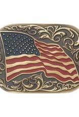 Belt Buckle - Large American Flag