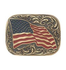 Belt Buckle - Large American Flag