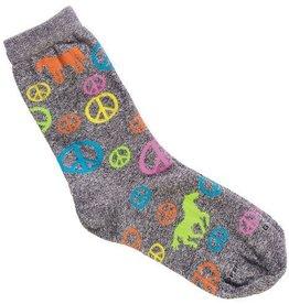 GT Reid Children's Socks Peace Sign