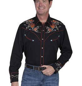 Scully Leather Men's Scully Boots, Hats & Guitars Snap Front Shirt