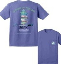 "Stirrups Equestrian Prep ""Follow Your Dreams"" T-Shirt - Blue"