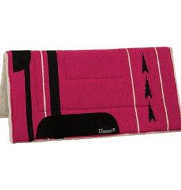 """Reinsman Reinsman Double R Fleece Lined Pad - 32""""x32"""" Pink"""