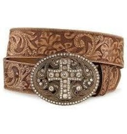 Justin Belts Adult - Vintage Cross Belt Cognac