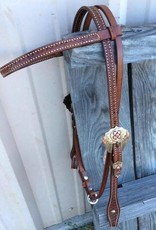 Alamo Browband Headstall w/ Floral Buckle