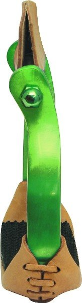 Abetta Offset Aluminum Stirrups, Lime - Adult