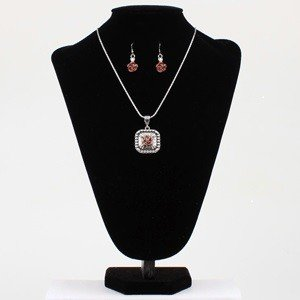 Set - Necklace/Earrings - Chain Rose