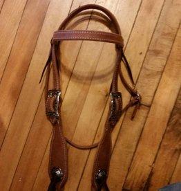 Circle L Circle L Hermann Oak Fat Boy Headstall - Horse Size