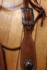 Circle L Circle L Hermann Oak Fat Boy Headstall w/Jeremiah Watts Hardware- Horse Size