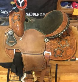 """Showman Double T Youth/Pony Saddle, w/String Girth - 13"""""""