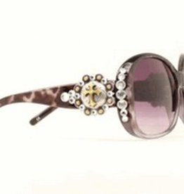 Sunglasses - Berry Cross Black