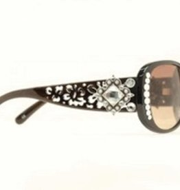 Sunglasses - Blk Cutout w/Dia Crystal