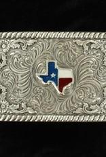 M & F Belt Buckle  - Rectangle Texas
