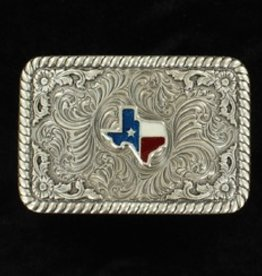 M & F Belt Buckle  - Rectangle Texas
