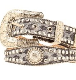 Adult Belt - Scallop Crystal Concho