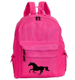 AWST Backpack - Pink w/ Galloping Horse