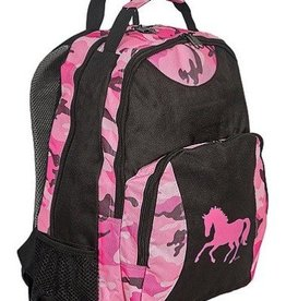 AWST Backpack - Pink Camo w/ Galloping Horse