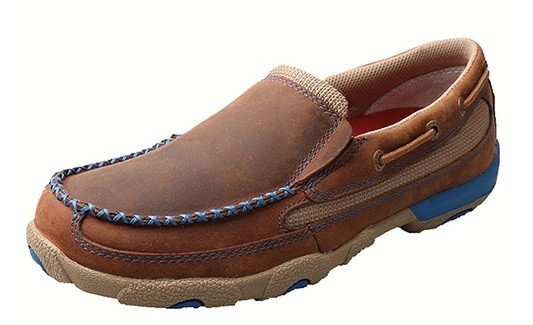 df92cd3f289 Twisted X Women s Twisted X Slip-On Driving Moccasins - Blue - Gass ...