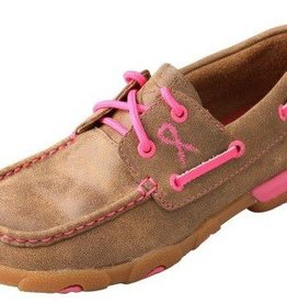 Twisted X Women's Twisted X Driving Moccasins Neon Pink