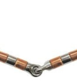 Eggbutt - Snaffle with Copper Rollers, 5""