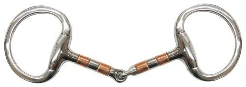 Snaffle - Eggbutt with Copper Rollers 5""
