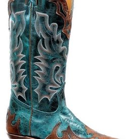 Boulet Western Women's Boulet Fancy Snip Toe Turquoise Boot - Proudly Canadian!