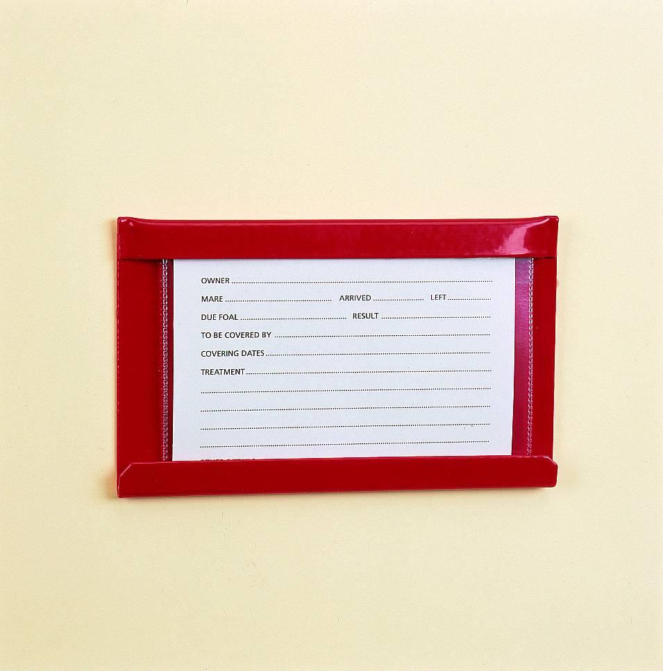 "Stubbs Stallmate Card Holder Green 6""x4"