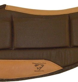 "Diamond Wool Countoured Relief Pads, Chocolate - 30""x30""x1/2"" Barrel"