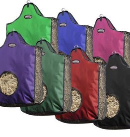 "Showman Showman® Heavy denier Nylon Hay Bag with Mesh Sides - 23""x6""x19"