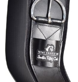 Total Saddle Fit Shoulder Relief Cinch, Black - Neoprene