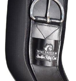 Total Saddle Fit Shoulder Relief Cinch, Black - Neoprene