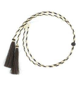 Stampede Strings - Natural Braided Horsehair, Black/White