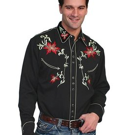 Scully Leather Men's Scully Floral Embroidered Shirt