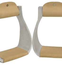 Showman Polished Aluminum Western Stirrups
