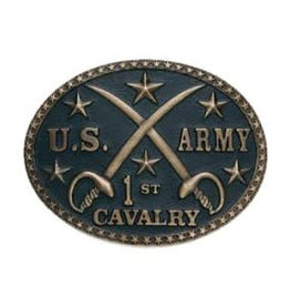 Belt Buckle - Antique Brass US Army 1st Cavalry