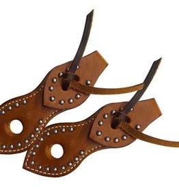 Showman Slobber Straps - Studded Leather