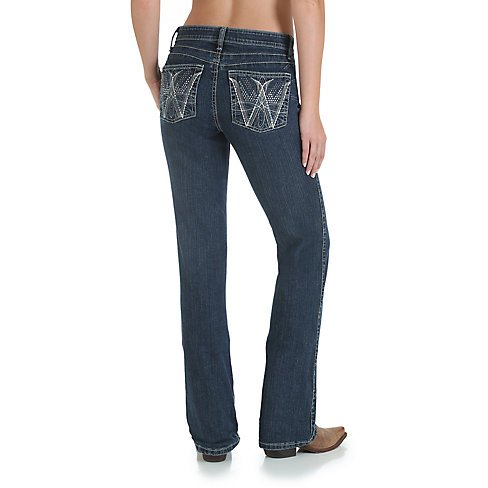 307de1c85f0 ... Wrangler Women s Wrangler Cowgirl Cut Ultimate Riding Jeans - Q-Baby  with Booty Up Technology ...
