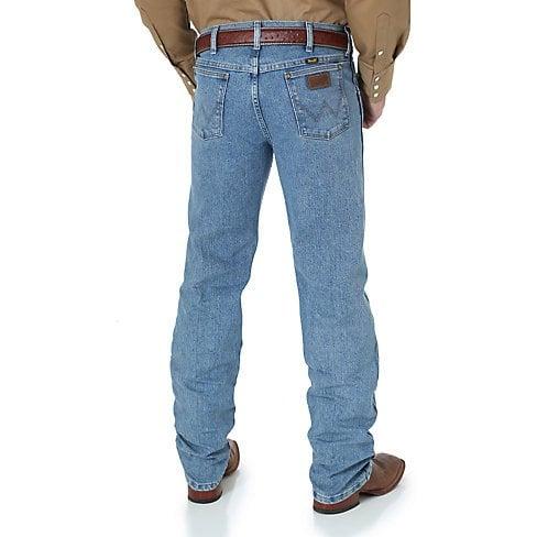 0d1e9542 ... Wrangler Men's Wrangler Premium Performance Advanced Comfort Cowboy Cut  Regular Fit Jeans - Stone Bleach ...