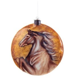 Ornament - Disc Horse Bust